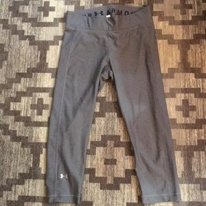 NEW Under Armour grey cropped yoga pants/leggings